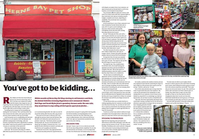 Herne Bay Pet Shop News